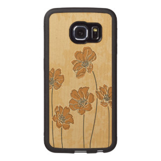 Baroque scheme floral wood phone case