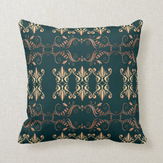 baroque seamless pattern throw pillow