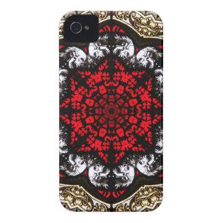 Baroque Skull Rose blackberry case