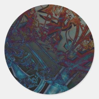 Baroque Spire Classic Round Sticker