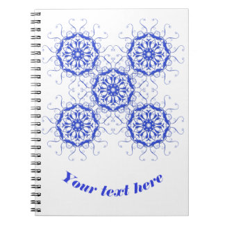 baroque style blue element.text. notebooks
