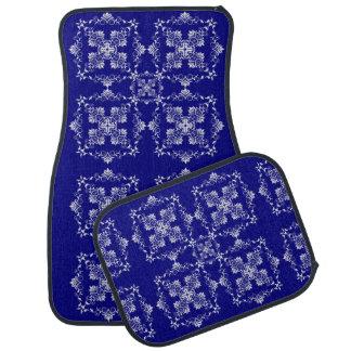 Baroque style  blue pattern. car mat