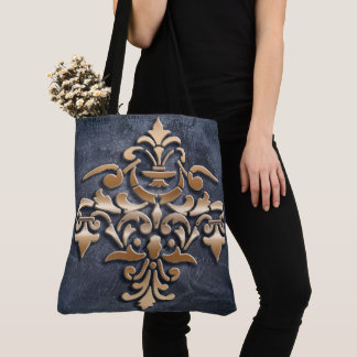 Baroque style golden element. tote bag