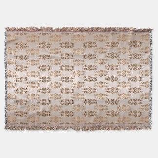 Baroque style gradient beige pattern. throw blanket