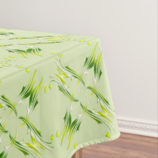 Baroque style lime green  pattern tablecloth