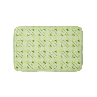 Baroque style lime pattern. bath mat