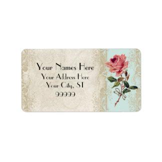 Baroque Style Vintage Rose Aqua n Cream Lace