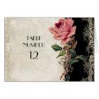 Baroque Style Vintage Rose Black n Cream Lace Card