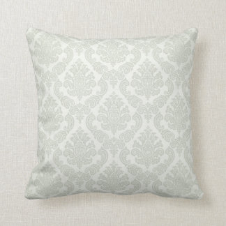 Baroque Vintage Damask | ice white Throw Pillow