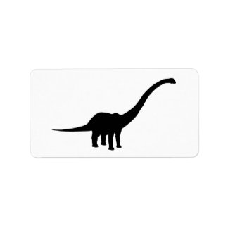 Barosaurus Dino Dinosaur Custom Address Label