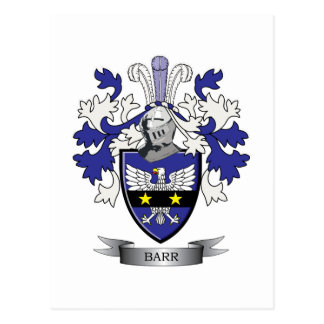 Barr Family Crest Coat of Arms Postcard