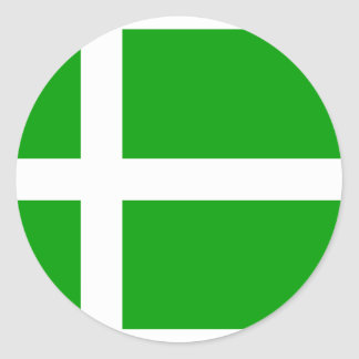 Barra, United Kingdom flag Round Sticker