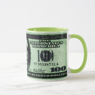 Barrack Obama 100 Dollars Bill Mug