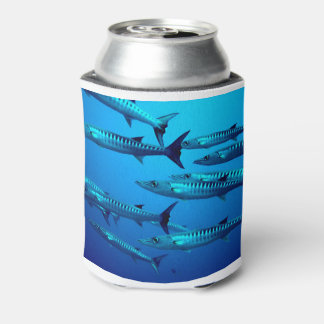 Barracuda Fish Dive Deep Ocean Water Swim Beach Can Cooler