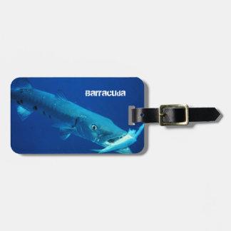Barracuda Fish Luggage Tag