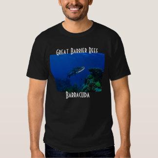 Barracuda Great Barrier Reef Coral Sea Tshirt