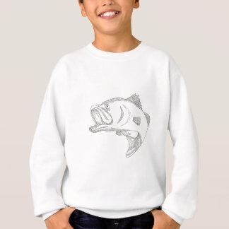 Barramundi Jumping Doodle Art Sweatshirt