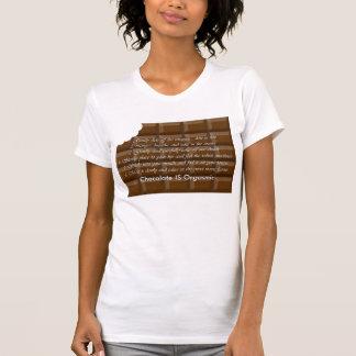 Barre adulte de choclate avec le gros morceau tshirt