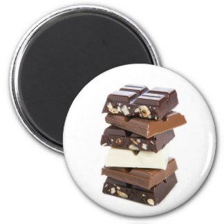 Barre aimantée de chocolat magnet rond 8 cm