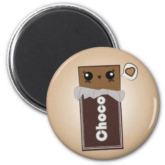 Barre aimantée mignonne de chocolat magnet rond 8 cm