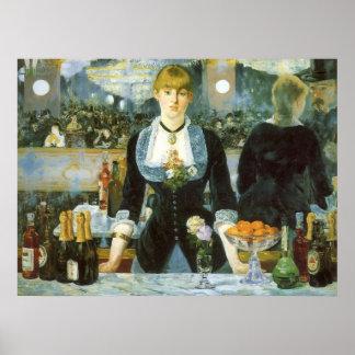 Barre chez le Folies Bergere par Manet, art