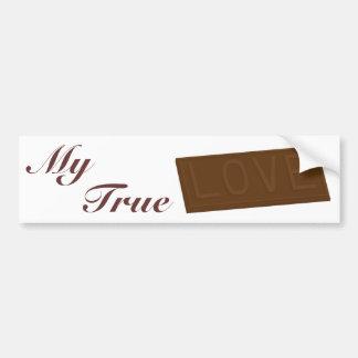 Barre d'amour de chocolat autocollant de voiture