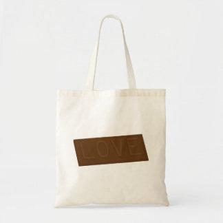 Barre d'amour de chocolat sac fourre-tout