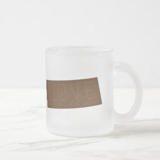 Barre d'amour de chocolat tasse à café