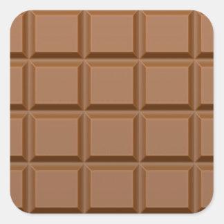 Barre de bonbons au chocolat sticker carré