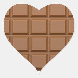 Barre de bonbons au chocolat sticker cœur