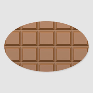 Barre de bonbons au chocolat sticker ovale