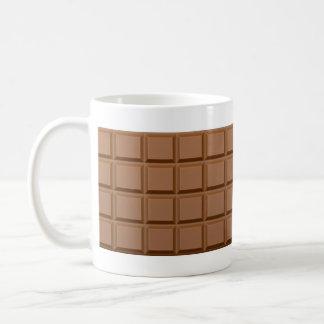 Barre de bonbons au chocolat tasses