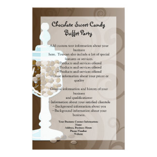 Barre de buffet de bonbons au chocolat, urne de prospectus 14 cm x 21,6 cm