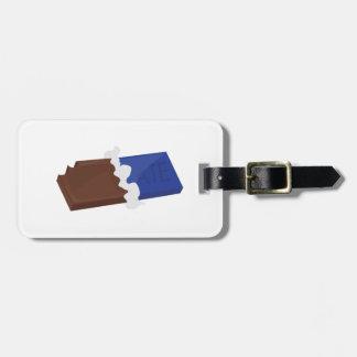 Barre de chocolat étiquettes de bagages