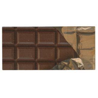 Barre de chocolat 8gb, commande d'instantané d'USB Clé USB 2.0 En Bois
