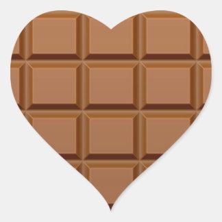 Barre de chocolat sticker cœur