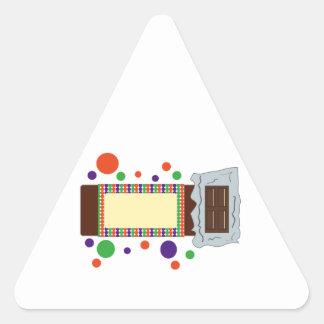 Barre de chocolat sticker en triangle
