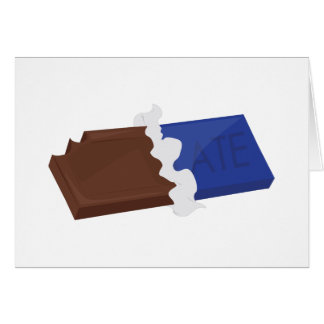 Barre de chocolat carte de vœux