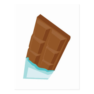 Barre de chocolat cartes postales