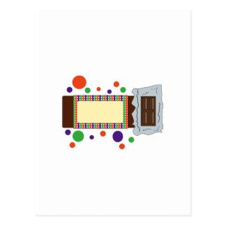 Barre de chocolat carte postale