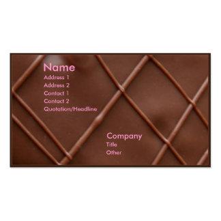 Barre de chocolat modèles de cartes de visite