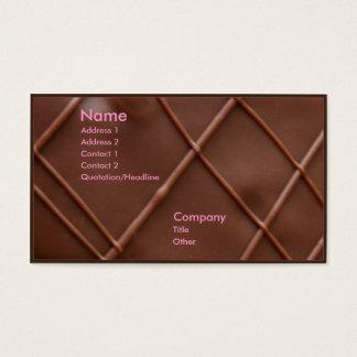 Barre de chocolat cartes de visite