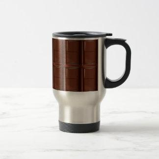 Barre de chocolat du lait tasse