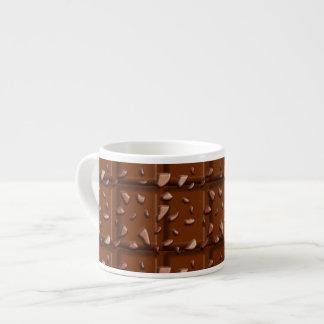 Barre de chocolat, effet de sucrerie, tasse de tasse expresso