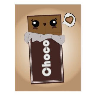 Barre de chocolat mignonne cartes postales