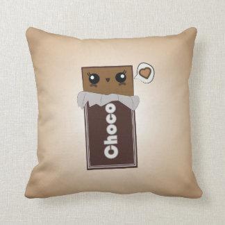 Barre de chocolat mignonne coussin