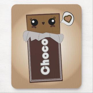 Barre de chocolat mignonne tapis de souris