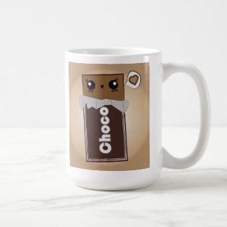Barre de chocolat mignonne tasse