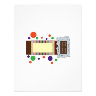 Barre de chocolat en-tête de lettre avec motif