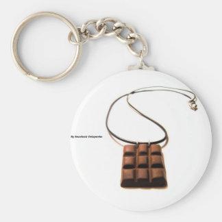 Barre de chocolat porte-clé rond